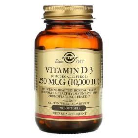Solgar, Витамин D3, 10 000 МЕ