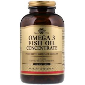 Solgar, Омега-3 концентрат рыбьего жира