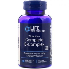 BioActive Complete B-Complex, Life Extension, 60 вегетарианских капсул