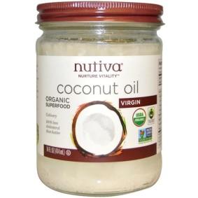 Organic Coconut Oil, Nutiva, кокосовое масло, 444 мл