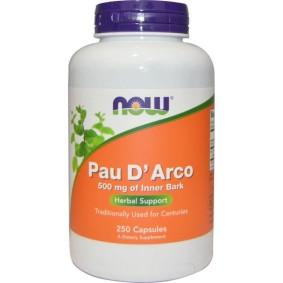 Pau D Arco от Now Foods, кора муравьиного дерева, 500 мг