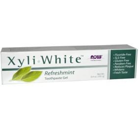 XyliWhite, Now Foods, зубная паста в виде геля, освежающая мята