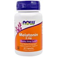 Melatonin, Now Foods, 3 мг, в капсулах