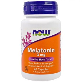 Melatonin, Now Foods, 3 мг, в капсулах