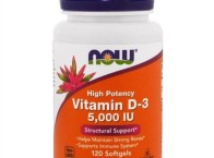 Vitamin D-3, Now Foods, 5 000 IU