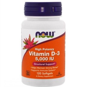 Vitamin D-3, Now Foods, 5 000 IU