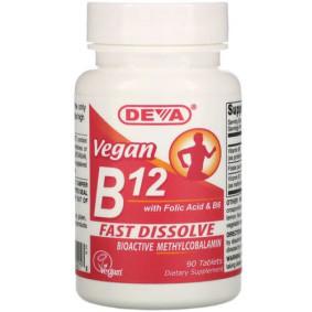 Deva, Веганский B12 с фолиевой кислотой и B6