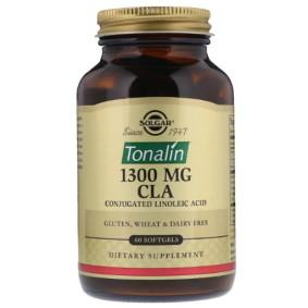 Solgar, Тоналин КЛК, 1300 мг, 60 гелевых капсул для похудения