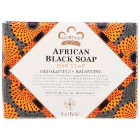 African Black Bar Soap, Nubian Heritage, 142 г