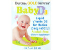 California Gold Nutrition, Детский витамин D3 в каплях