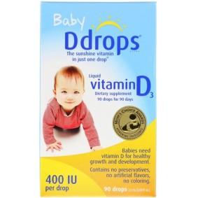 Liquid Vitamin D3, Ddrops, для детей, 400 МЕ