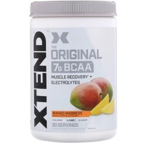 Xtend, Scivation, 7 г аминокислот с разветвленной цепью, безумие манго, 420 г