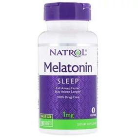 Melatonin, Natrol, 1 мг, 180 таблеток