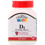 21st Century, Витамин D3, (1000 МЕ)