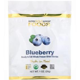 Blueberry, California Gold Nutrition, черника лиофилизированная