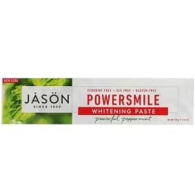 PowerSmile Whitening Paste, Jason Natural, для защиты от зубного налета, 170 г