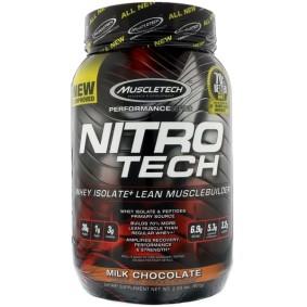 Nitro -Tech, Muscletech, сывороточный изолят для наращивания сухой мышечной массы