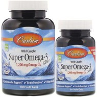 Carlson Labs, Wild Caught, Омега-3, 1200 мг