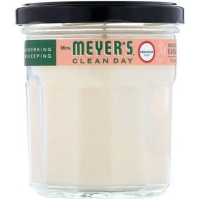 Scented Soy Candle, Mrs. Meyers Clean Day, с запахом герани, 204 г